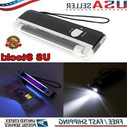 Handheld UV Light Torch Portable Blacklight With LED AA Batt