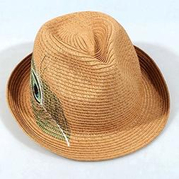 Handmade Straw Hat Ladies Summer Outdoor Travel Beach Hat UV