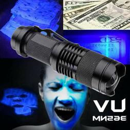 High Powered UV Lamp Black Light Ultra Violet Flashlight 395