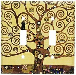 Art Plates - Klimt: The Tree of Life Switch Plate - Double