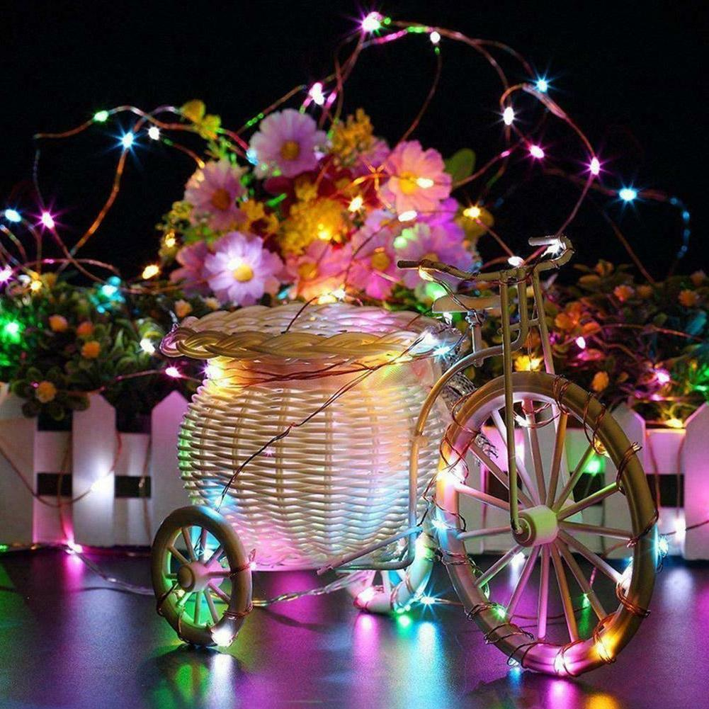 100/200LED String Lights Waterproof Wire Fairy Outdoor Garden Lamps