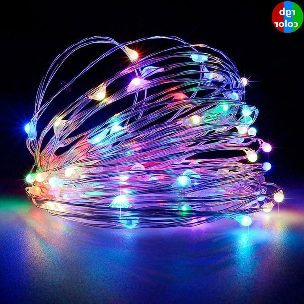 100/200LED Solar String Waterproof Copper Wire Outdoor