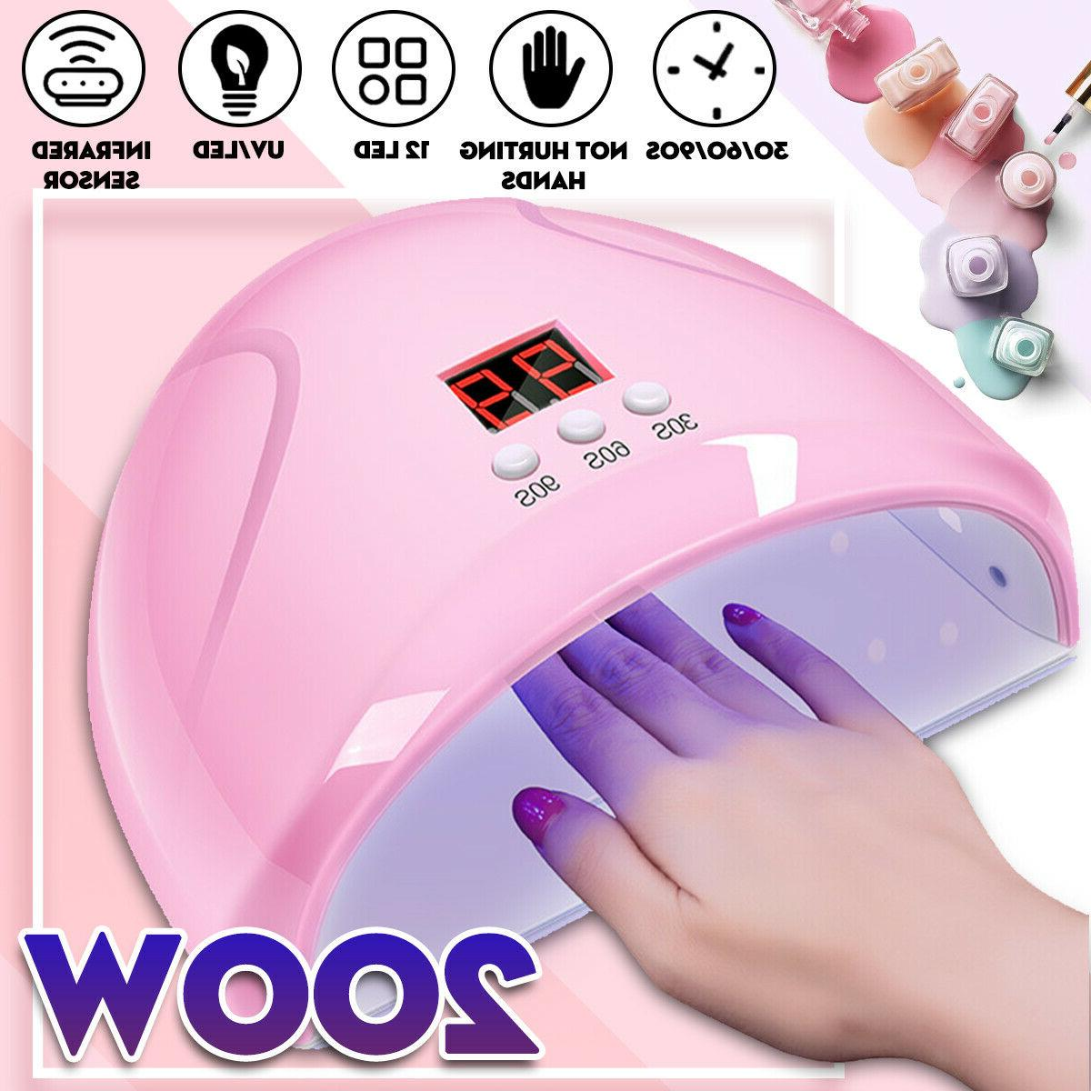 120w nail lamp led uv light gel