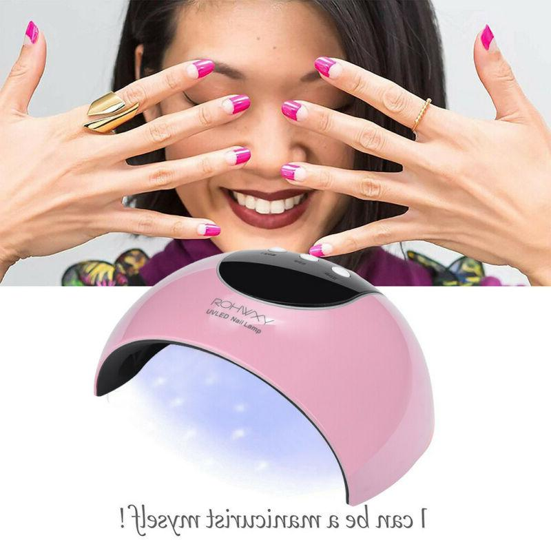 24W LED UV Nail Gel Curing Lamp Light Nail Gel Polish Dryer