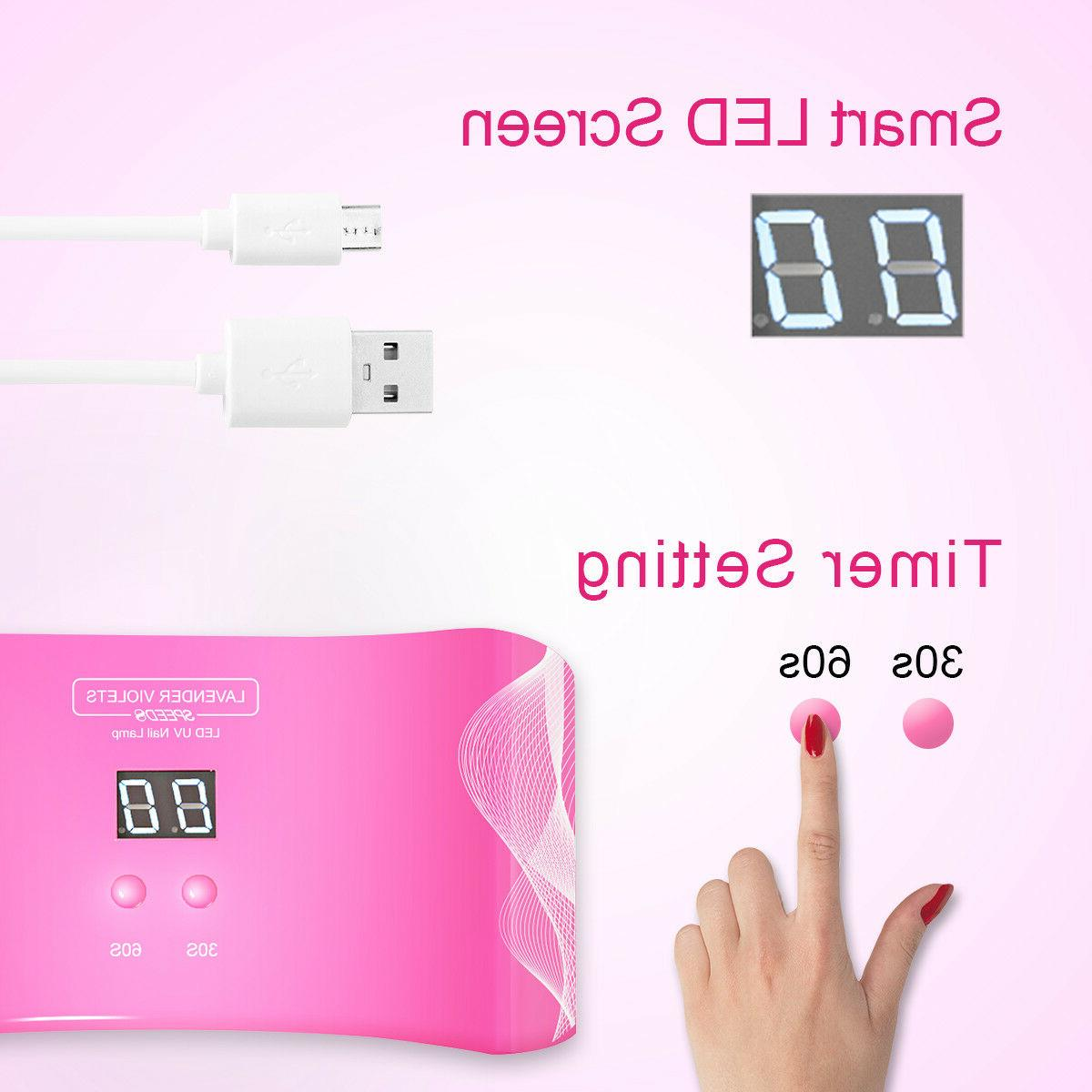 24W Dryer UV Gel Polish Timer Sensor