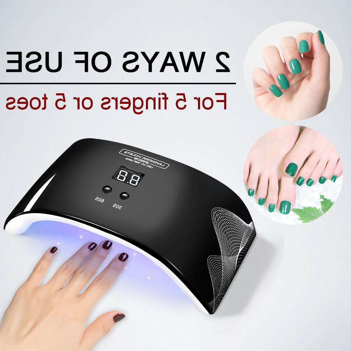 24W LED UV Lamp Fast Light Auto Sensor Timer Salon