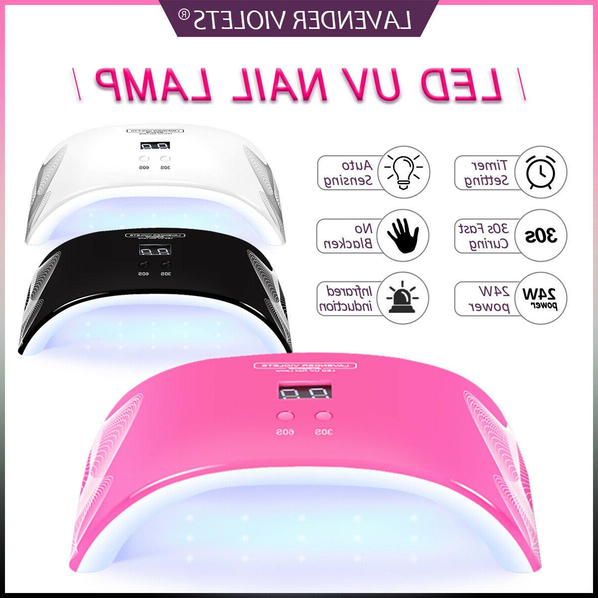 24w led uv nail lamp fast curing