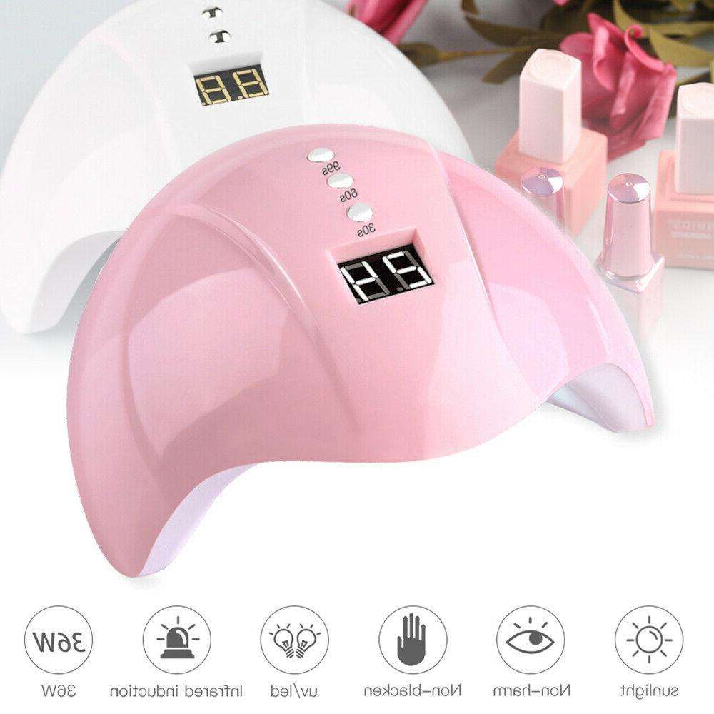 36w uv led nail gel dryer usb