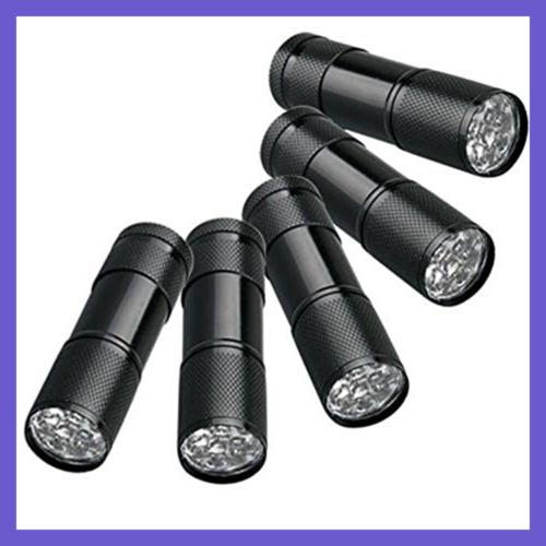 5 Ultra VIOLET Blacklight Torch Outdoors Pe 9Led