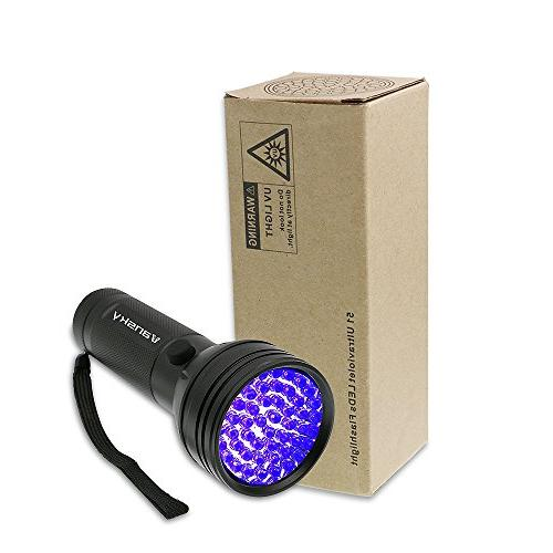 UV Flashlight Black light UV Lights 51 Ultraviolet Blacklight Pet Dog/Cat Matching Pet Eliminator