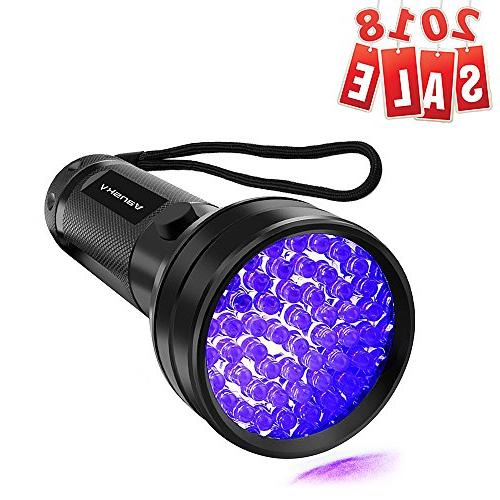 51 leds blacklight flashlight pet