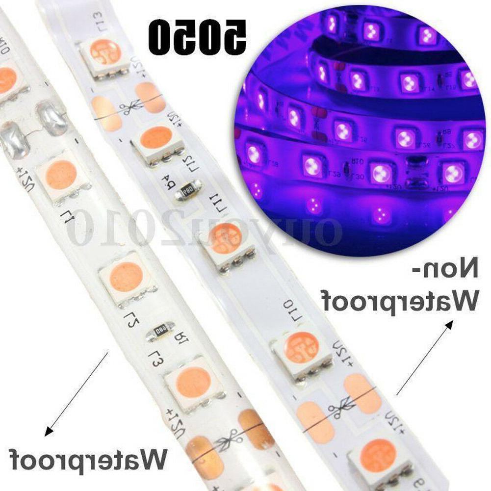 5M 3528/5050 UV Ultraviolet Purple Waterproof 300led Strip L