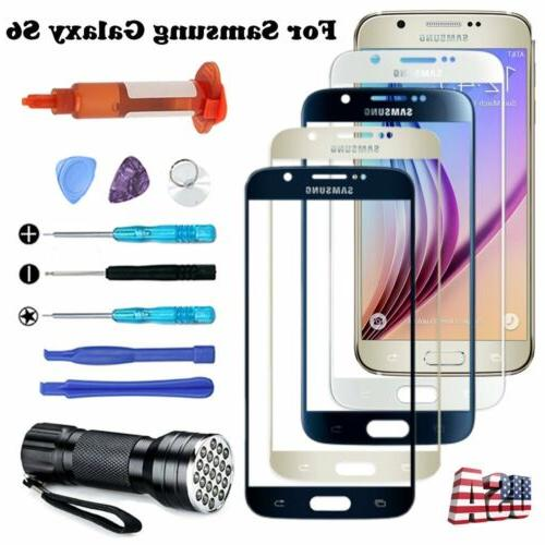 For Samsung Galaxy S6 Front Screen Glass Replacement Part UV