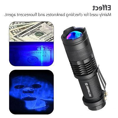 UV Violet Flashlight Lamp Light Outdoor
