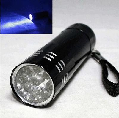 UV Ultra Violet LED Mini Blacklight Tactical Torch Light Lamp Black