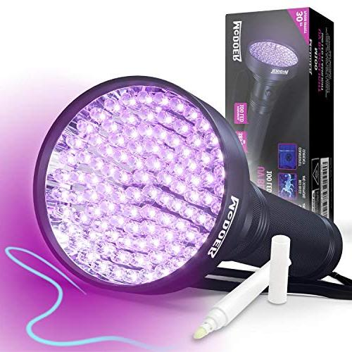 blacklight flashlight uv 100 light