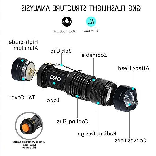 2Pack Light LED Flashlight, Flashlight, Ultraviolet With 3 Light Zoom Black Light - Pet Urine and Bed Bug,