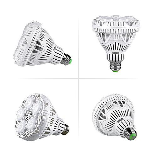 SANSI LED Light Full Spectrum LED Grow Lights E26 for Hydroponics Vegetable Tobacco, UV&IR, 90-132V