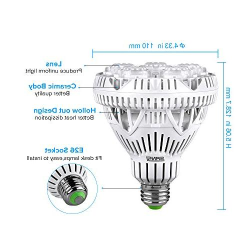 SANSI Plant Light LED Plant Lights E26 Grow for Hydroponics Vegetable UV&IR,
