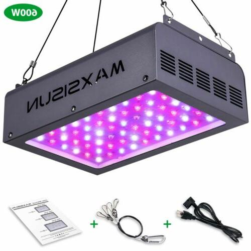 300W Dimmable LED Grow Light 12-band Full Spectrum Indoor Pl