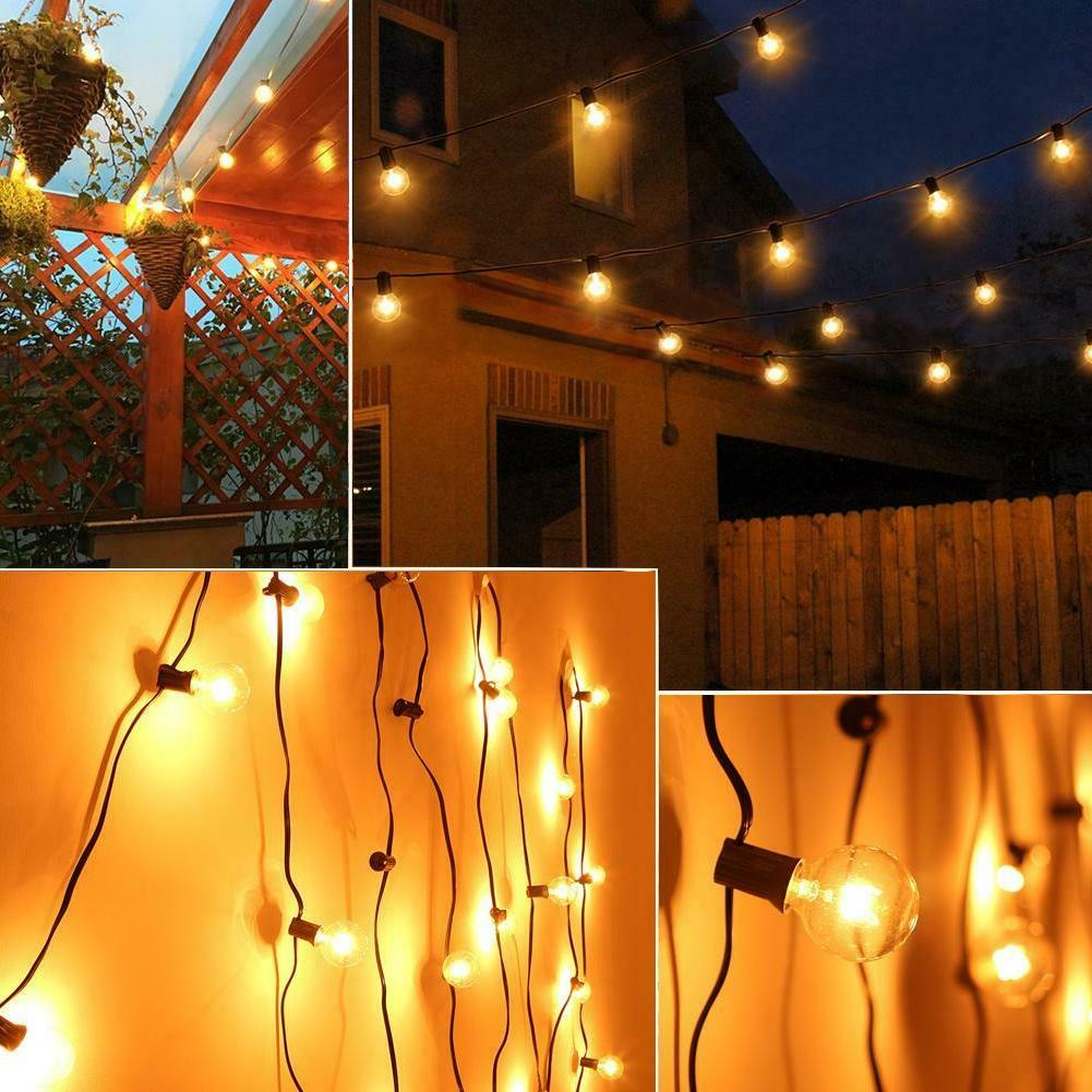 G40 8m 25LED Ball Bulb String Light Outdoor Waterproof Yard