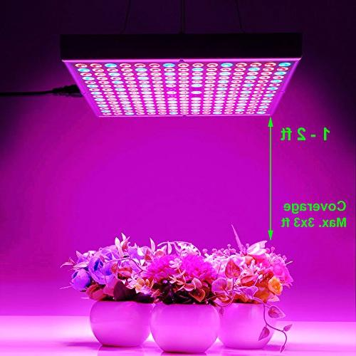 45W LED Grow for Indoor Lamp 225 UV IR Red Blue Spectrum Panel Hydroponics Greenhouse Seedling and by