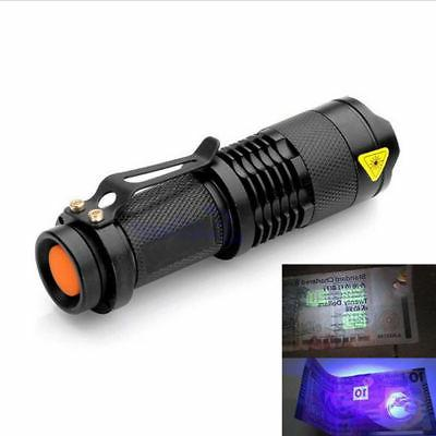 Black Light Violet Flashlight 395nm 5W LED US