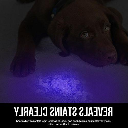 LE UV Portable Black Light with 9 Light Detector Pet Urine Stain, Batteries Included