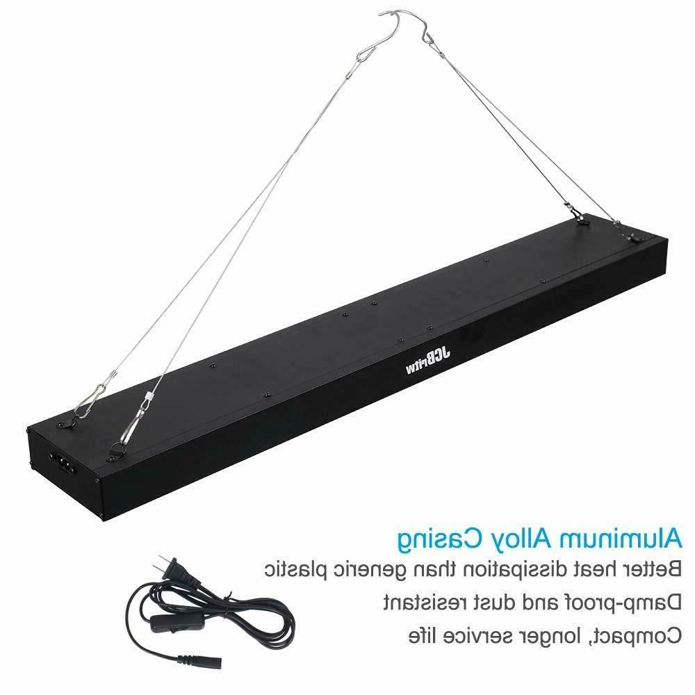 JCBritw LED Grow Light for Indoor Spectrum UV Blue 100W Hanging