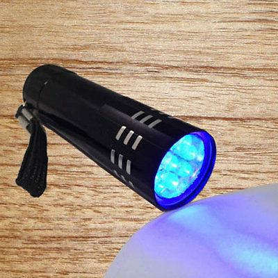 Mini Violet Flashlight Blacklight Torch Black