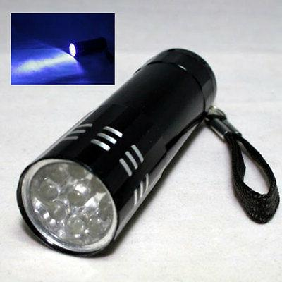 Mini Violet LED Blacklight Torch Black