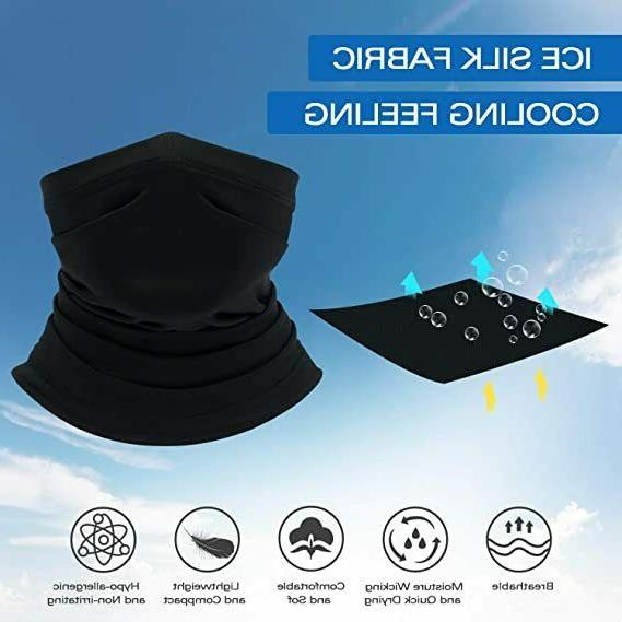 Neck Gaiter UV Face Cover Windproof Seamless