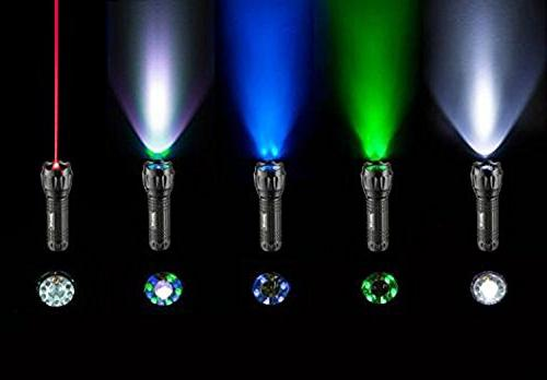 SAMLITE- LED Tactical With 5 LED Light, UV Green Light and Bottom Water Resistant -