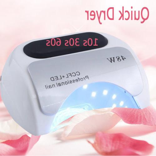 Professional LED UV Nail Dryer Polish Lamp Light Curing 48W