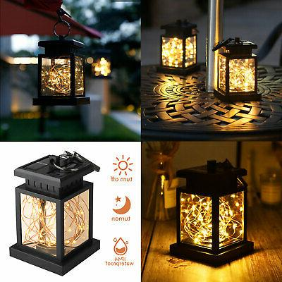 solar lantern hanging light led yard outdoor