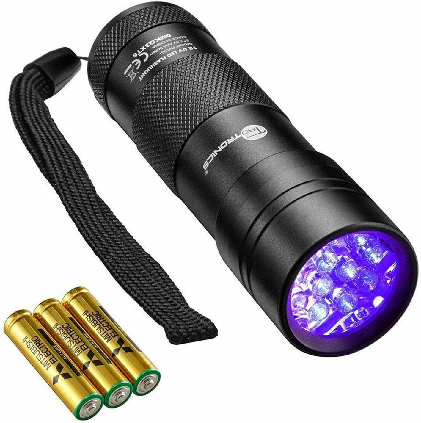 tt fl001 uv flashlight blacklight