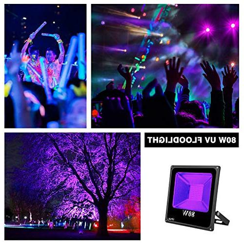 UV LED LIGHTIMETUNNEL Outdoor UV Flood Light, Waterproof with Plug for Party, Lighting, in The Body Neon Glow