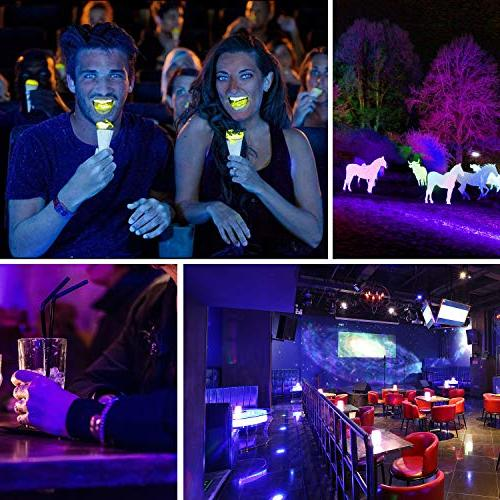 UV LED LIGHTIMETUNNEL 80W Outdoor UV Flood Light, with for Dance Party, Glow in Neon Glow
