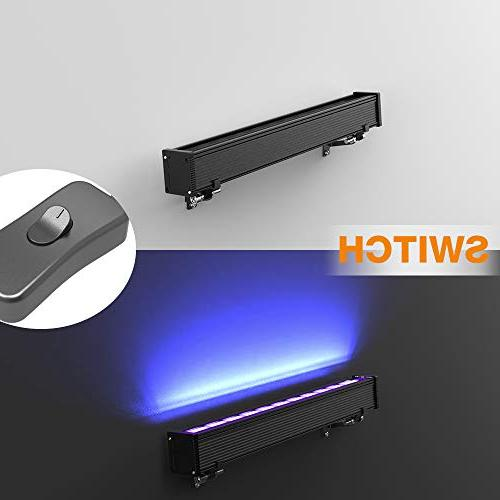 Onforu Pack UV Black Bar, Power with US and Switch, Glow in Dark Supplies Stage Wedding Party