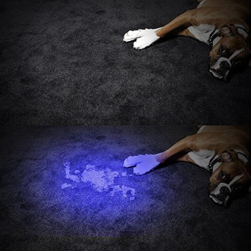 AHOME Flashlight, Pet Urine Remover 18650 and