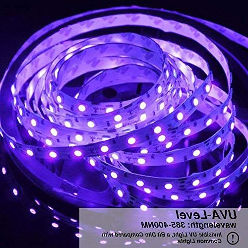 Onforu 33ft LED Black Strip 600 Beads, Flexible Fixtures, LED Non-Waterproof for Fluorescent Dance Stage Body Paint