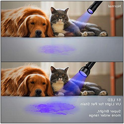 2-Pack 390-395 Urine Pet Stains, Bugs, Scorpions, Travel Black Light