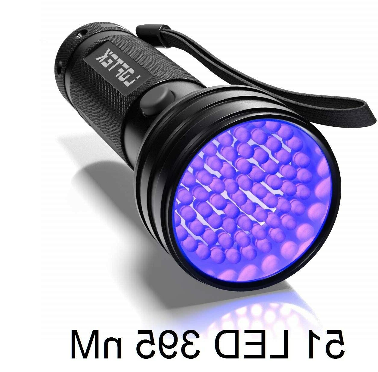UV Flashlight LED Pet Urine Bed Bug Handheld UV Light Scorpi