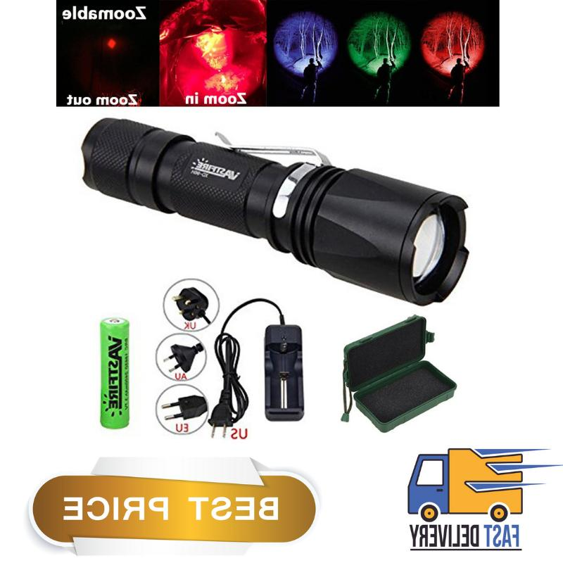 uv hunting flashlight zoomable green red deer