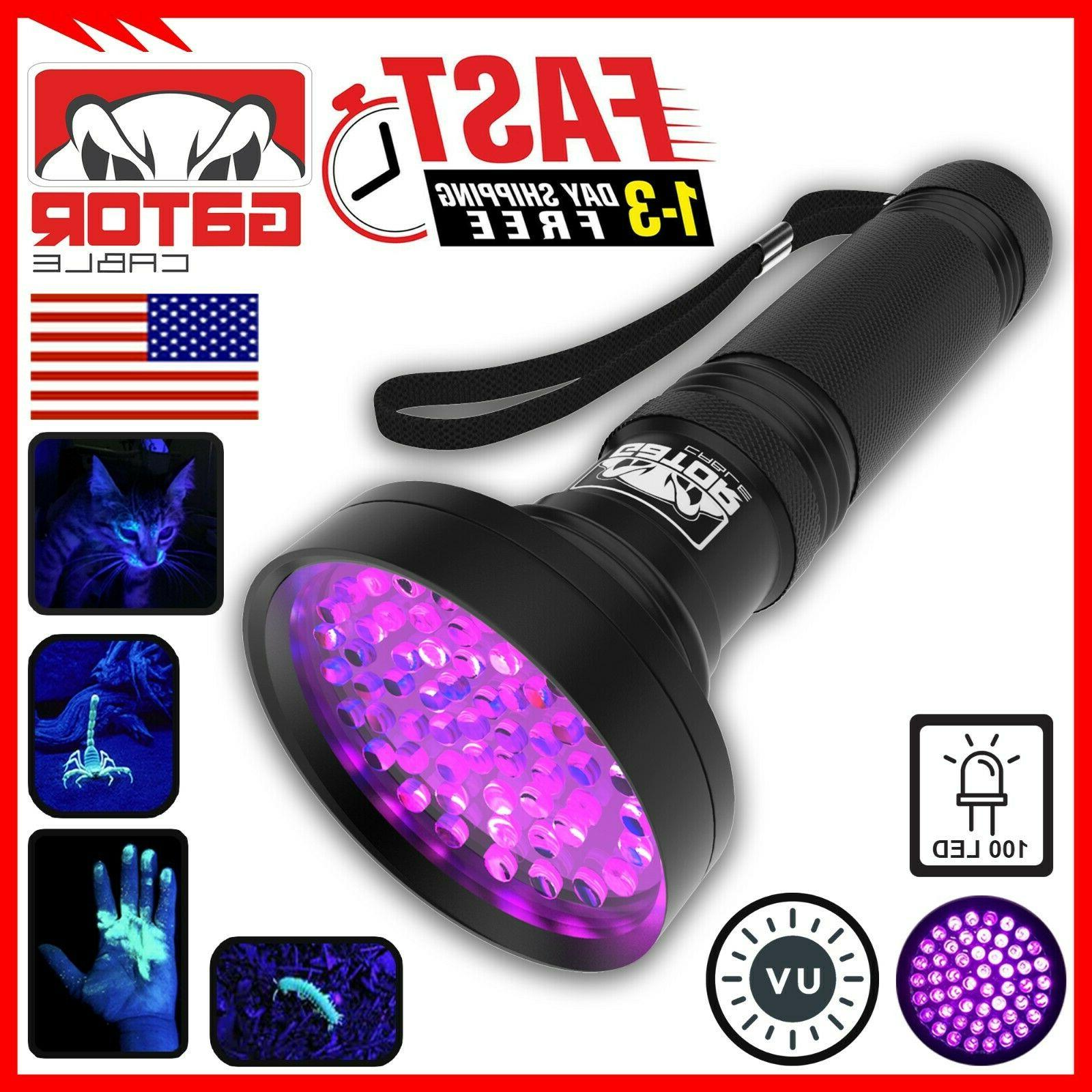 UV Ultra Violet 100 LED Flashlight Black Light 395 nM Inspec
