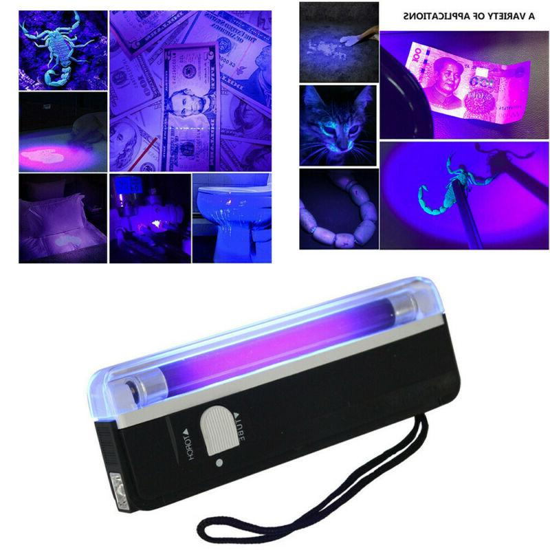 UV Ultra Violet Flashlight 365NM LED Blacklight Inspection T