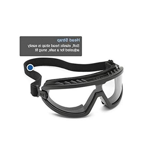Gateway Safety 4589P Foam-Lined Anti-Fog Lens, Black with
