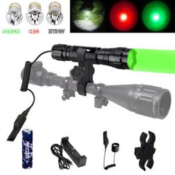 LED Hunt Flashlight Hunting Torch Tactical Blue/Red/Green/UV