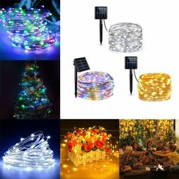 LED Solar String Lights Waterproof Copper Wire Fairy Lamp Ou