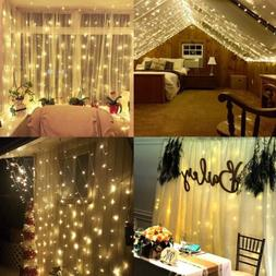 LED String Fairy Light Outdoor Garden Curtain Lamp Party Wed